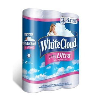 White Cloud Ultra Comfort Bathroom Tissue, 12 Double Rolls