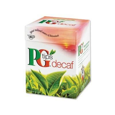 PG Tips Decaf 80 bags. Case of 12
