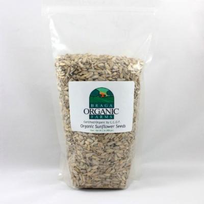 Braga Organic Farms Sunflower Seeds , Raw, 2 Pound