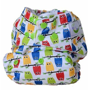Sweet Pea Bamboo AIO One Size Diaper, Owls