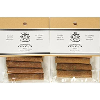 India Tree Cinnamon Sticks 2-3/4 inches, 1 oz (Pack of 4)