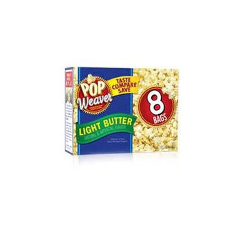Pop Weaver Microwave Light Butter Popcorn,8 Bags/bx (2 Box Deal) for 16 Bag Total