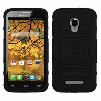 MYBAT Advanced Armor Kickstand Protector Cover for Alcatel 7024W One Touch Fierce - Retail Packaging - Black