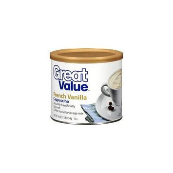 Great Value: French Vanilla Cappuccino, 16 oz(Pack of 4)