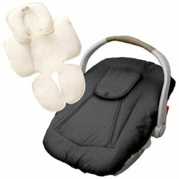 Jolly Jumper Deluxe Car Seat Cover with Snuzzler Body Support, Black