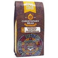 Christopher Bean Coffee Flavored Decaffeinated Ground Coffee, Caramel Walnut Shortbread, 12 Ounce