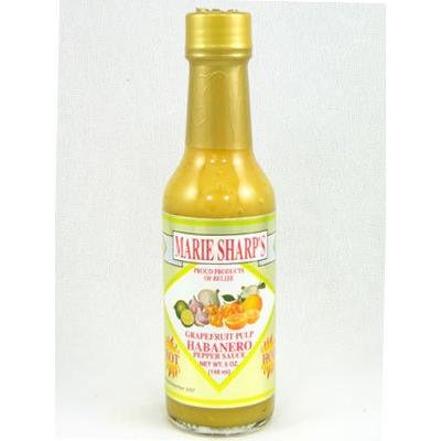 Marie Sharp's Grapefruit Pulp Habanero Hot Sauce (Pack of 3)
