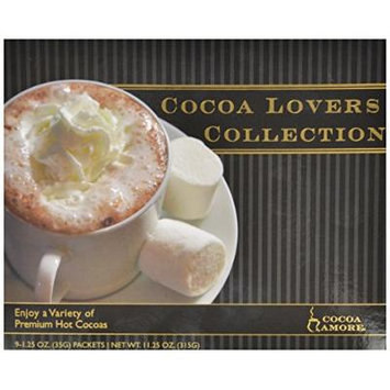 Cocoa Amore Cocoa Lovers Collection, 1.25 oz, 9-Count Packets (Pack of 3)