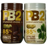 Bell Plantation PB2 Powdered Peanut Butter and Chocolate Variety 16 Oz. 4 Pack