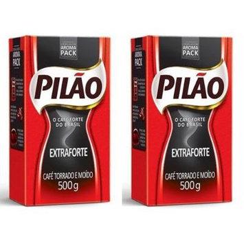 Café Pilão Extraforte (Extra Strength Coffee) 500 Grams PACK OF 2