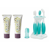 Jack N Jill Natural Toothpaste 2 Pack with Oral Care Kit, Blackcurrant