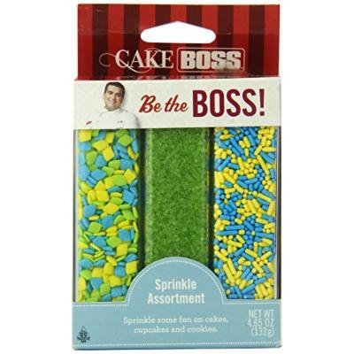 Cake Boss Sprinkle Assortment, Lime/Turquoise, 4.65 Ounce