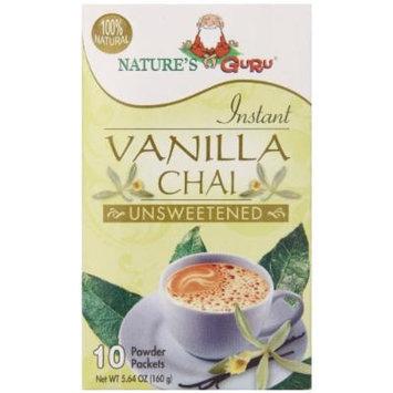 Nature's Guru Chai Unsweetened Drink Mix, Vanilla, 10 Count (Pack of 8)