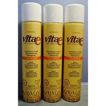 Lamaur Vita-e Maximum Hold Professional Hair Spray (3 pack)