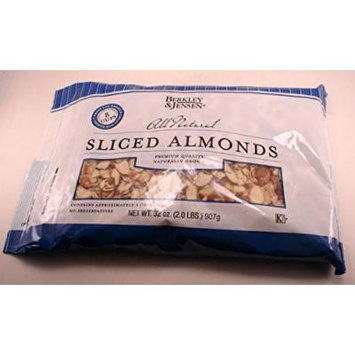 Berkley & Jensen All Natural Sliced Almonds Premium Quality Naturally Grown (32 oz bag)
