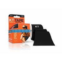 KT TAPE PRO Kinesiology Tape, Elastic Therapeutic Tape, Uncut, 16 Feet, Black