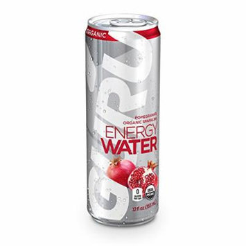 GURU Organic Energy Water, Sugar Free, Zero Calorie, Sparkling Water with Natural Caffeine, Pomegranate, 12-Ounce (Pack of 12)