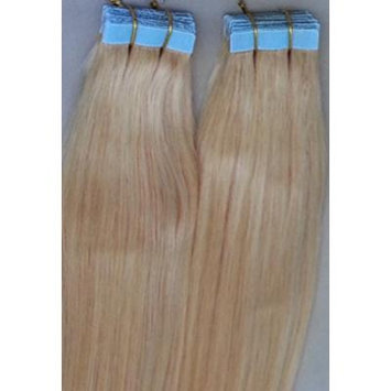 20 inches 100grs,40pcs, 100% Human Tape In Hair Extensions #22 Ash Blonde