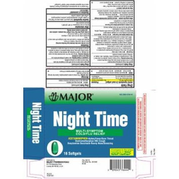 [3 PACK] NightTime® Multisymptom Cold & Flu Relief Rapid Release Gelcaps *Compare to the same active ingredients found in NyQuil® (16 per Box PACK of 3 Total 48 Gelcaps)
