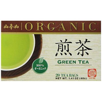 Yamamotoyama Organic Green Tea Sencha, 1.41-Ounce Boxes (Pack of 6)