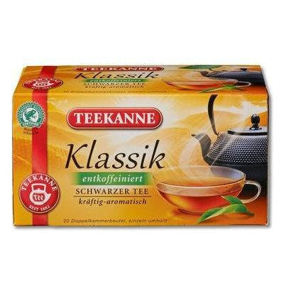 3x Teekanne Klassik (entkoffeiniert) decaffeinated (each box 20 tea bags)