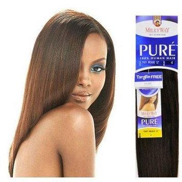 YAKY WEAVE 20'' (4 Med. Brown) - Shake N Go MilkyWay PURE 100% Human Hair Weave Extensions