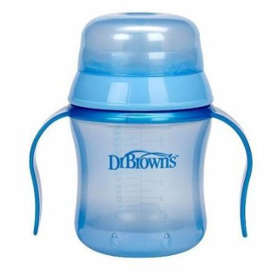 Dr Browns BPA Free 6 Ounce Soft Spout Training Cup Blue