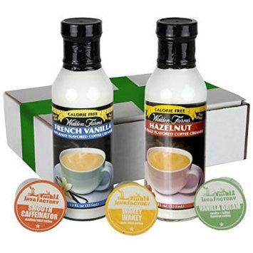Walden Farms Coffee Creamer/French Vanilla/Hazelnut Coffee Creamer - CalorieFree, Carb Free, Fat Free - 12 Oz Each