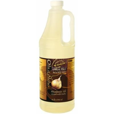 Oils of Aloha Garlic Isle Macadamia Nut Cooking & Salad Oil 32-Ounce