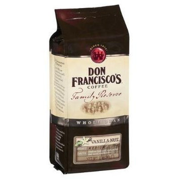 Don Francisco's, Family Reserve, Vanilla Nut Ground Coffee, 12oz (Pack of 2)