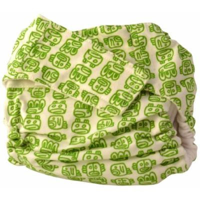 Cuteybaby All in One Modern Cloth Diaper, Green Tribal, Toddler