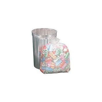 Trash Bag CLEAR 50 Count MEDIUM Size for 33 Gallon 33x40 Liner on Roll MEDIUM Duty 14 Micron