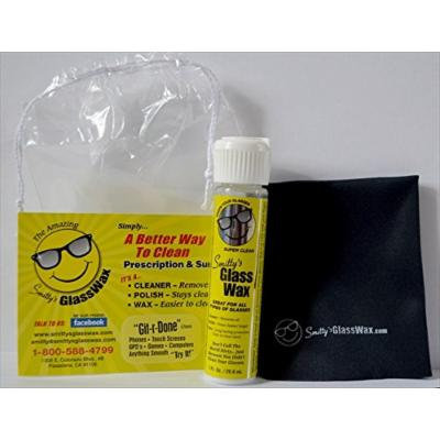 Smittys Glass Wax 741360708174 2 Bottles and 2 Microfiber Cloths