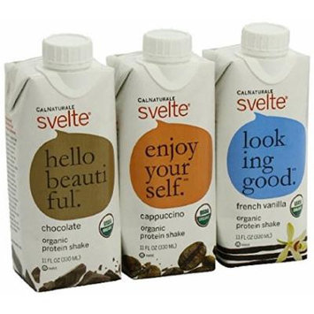 CalNaturale Svelte Organic Protein Shake, Variety Pack, 11 Ounce Aseptic Boxes (packof 24)