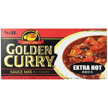S&B Golden Curry Sauce Mix, Extra Hot, 8.4-Ounce