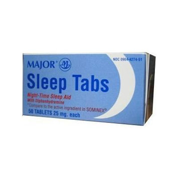 [6 Pack] Sleep Tabs Night-time Sleep Aid 50 Ct Tablets (Pack of 6) *Compare to the Active Ingredients in Sominex® & Save!*