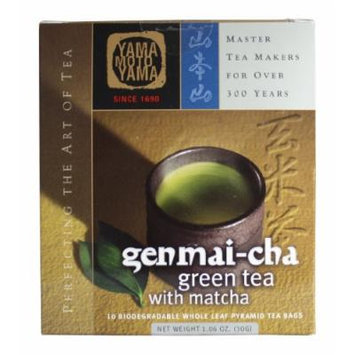 Yamamotoyama Genmai Brown Rice Tea Pyramid Bag, 1.06-Ounce Boxes (Pack of 3)