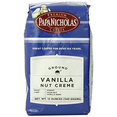 PapaNicholas Coffee Ground Coffee, Vanilla Nut Creme, 12 Ounce