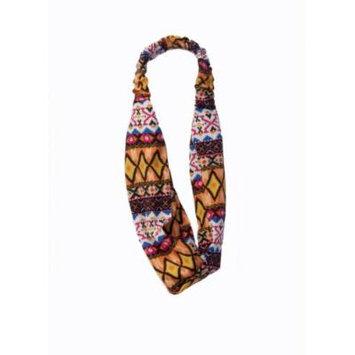 Tribal Turbin Twist Elastic Fabric Headband (Tribal Headband 3)