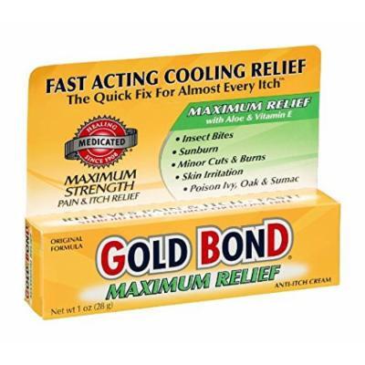 Gold Bond Maximum Relief Anti-Itch Cream, 1 OZ (Pack of 6)