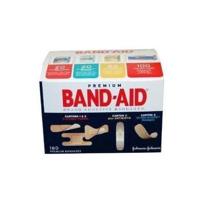 Premium Band-Aid Brand: 160 Adhesive Bandages