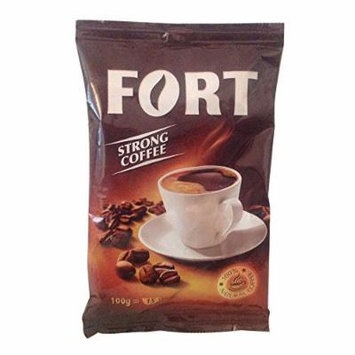 Fort Coffee Popular Romanian Strong Ground Coffee 100 Grams = 15 Cups