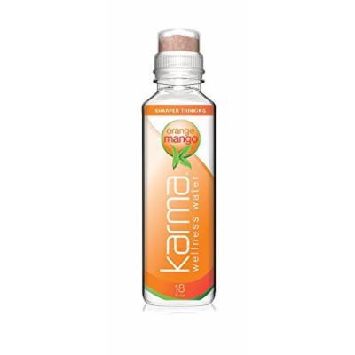 Karma Wellness Water, Orange Mango, 18 Ounce (12 Count)