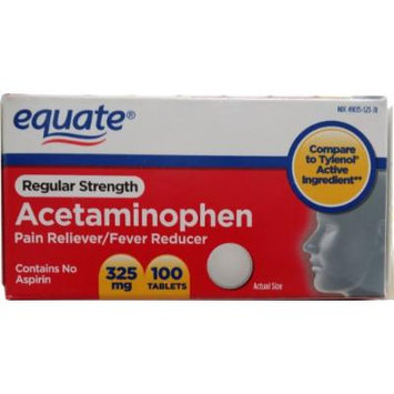 Acetaminophen 325mg 100ct, By Equate, Compare to Tylenol