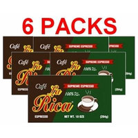 Cafe La Rica 6 PACK Cuban Espresso Ground Coffee 284 g