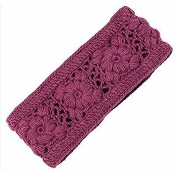 Nirvanna Designs Flower Crochet Headband, Plum