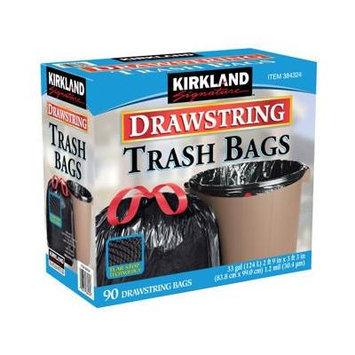 Kirkland Signature Drawstring Trash Bags - 33 Gallon - Xl Size - 180 Count Pack (e3b993)