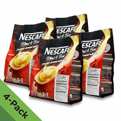4 PACK ★ Nescafe Improved 3 in 1 Original (was Regular) Pre mix Instant Coffee ★ Creamier, Tastier ★ Make Your Life Easier ★ From a Trusted and Well-Loved Brand ★ 19g per Stick with 120 Sticks in Total