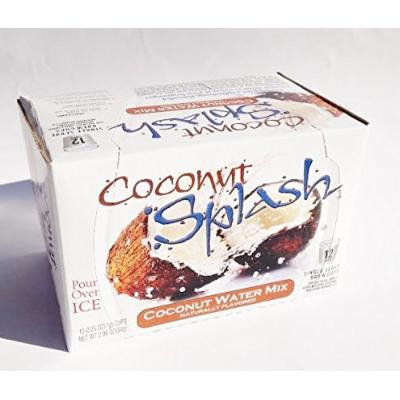 Coconut Splash Naturally Flavored Coconut Water Mix Keurig K-Cup - 12 Ct. - Brew Over Ice (12 Individual Serving.s - 2.96 oz. Net Wt.)
