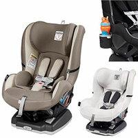 Peg Perego Primo Viaggio Infant Convertible Car Seat w Clima Cover, White & Cup Holder (Panama)